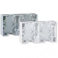 Kutija dvostruka za montažu sklopki i priključnica bela