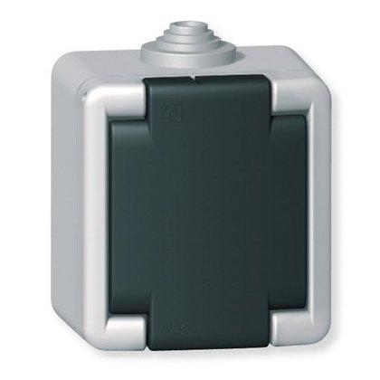 Priključnica dvopolna za na zid IP 55 16A/250V~ sa porcelanskim jezgrom - metalna