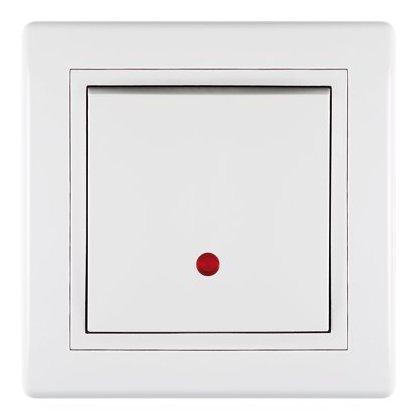 PRESTIGE PREKIDAČ- jednopolni 10A beli sa indikacijom