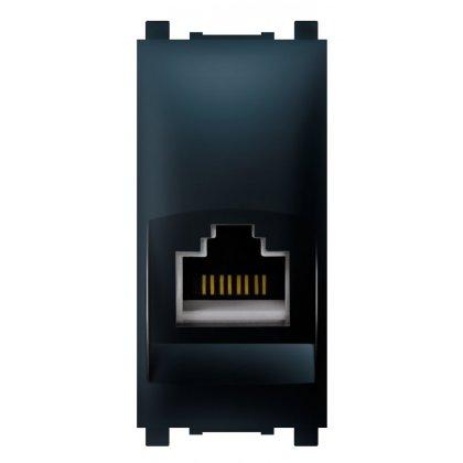 EXP PRIKLJUČNICA RJ45 Cat6 crna soft