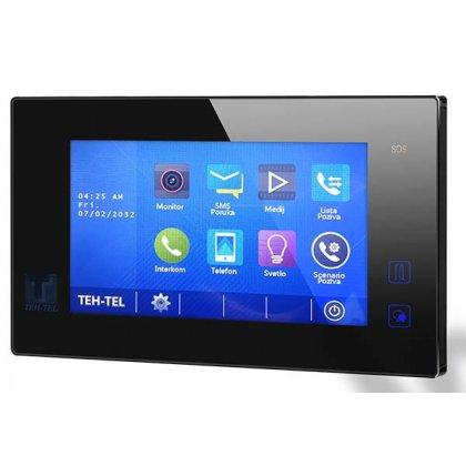 """Unutrašnja jedinica video interfona DT47MG(V2)/TD7-B, 7"""" touch screen ekran – CRNI"""